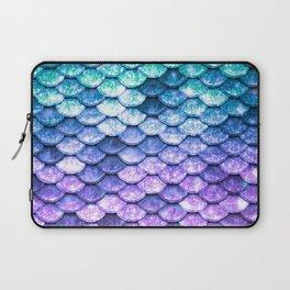 Mermaid Ombre Sparkle Teal Blue Purple Laptop Sleeve
