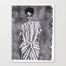 Vogue Pixelated Canvas Print