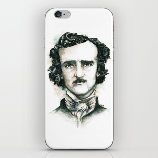 Edgar Allan Poe and Ravens iPhone & iPod Skin