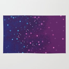 Bi Pride Flag Galaxy Rug