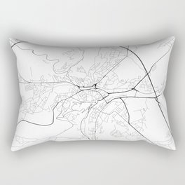 Minimal City Maps - Map Of Namur, Belgium. Rectangular Pillow