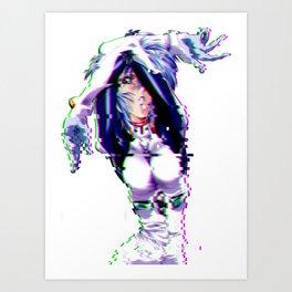 rei glitch Art Print