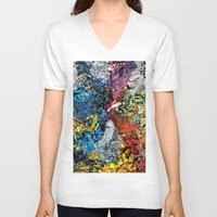 xmen V-neck T-shirts featuring The XMen by MelissaMoffatCollage