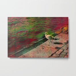 Disco seagul unicorn Metal Print