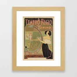 Art nouveau Royal Opera House Turin Torino Framed Art Print