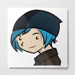 Mini Chloe Price from Life is Strange Metal Print