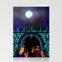 castlevania Stationery Cards featuring Dark Castle by VGPrints