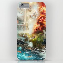 The 4 elements of the Zodiac iPhone Case