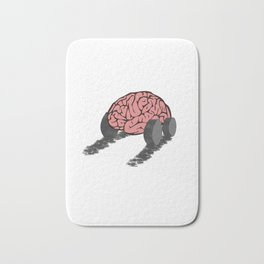 Brain with wheels Bath Mat