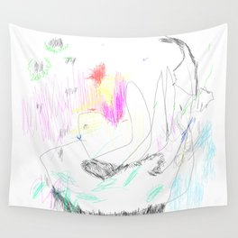 abstract whale Wall Tapestry