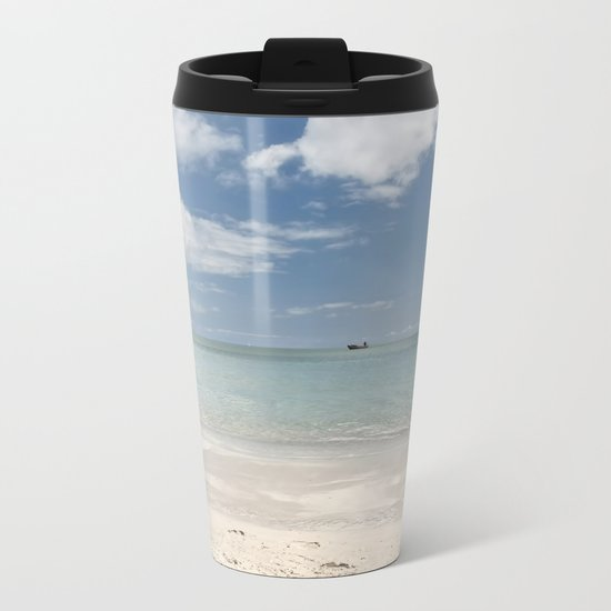 Dream beach Sea Ocean Summer Maritime Navy Metal Travel Mug