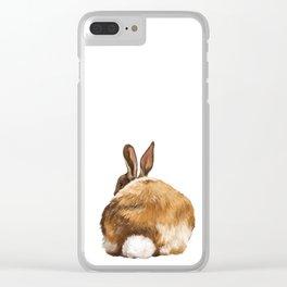 Rabbit Butt Clear iPhone Case