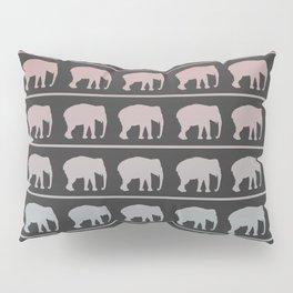 Elephants Marching Pattern Pillow Sham