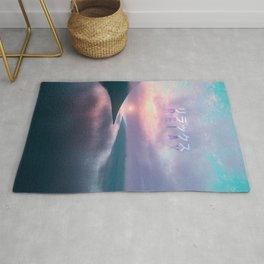 """""""Relax"""" Japanese Vaporwave Aesthetic Sunset Rug"""