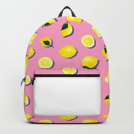 Pink Lemon ~ 80's Pattern Backpack