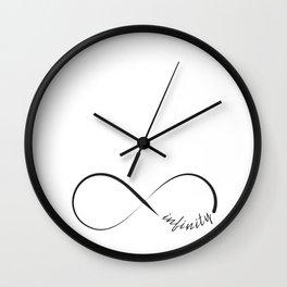 Minimalistic infinity symbol Wall Clock