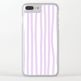Lavender Stripes Clear iPhone Case