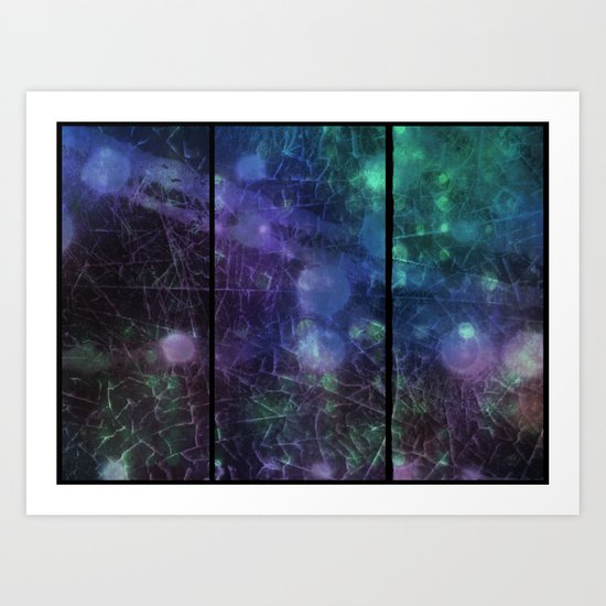 Purple,  Green and Blue Art Print