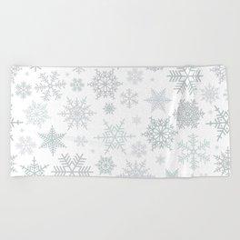 Snowflake pattern Beach Towel