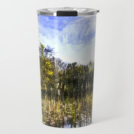 The Bulrush Pond Art Travel Mug