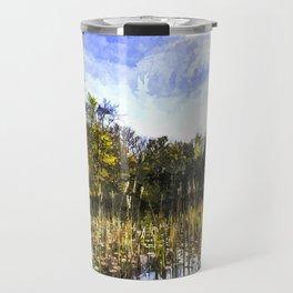 The Bulrush Pond Art Travel Mug
