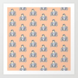 Sulky Sherlock - Peach Art Print