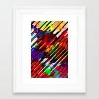 stripe Framed Art Prints featuring stripe by barmalisiRTB