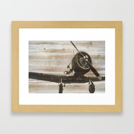 Old airplane 2 Framed Art Print