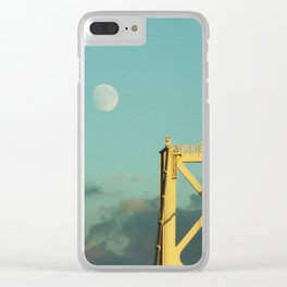 Moon over the Bridge Clear iPhone Case
