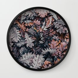 Dead Leaves Wall Clock