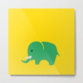 Kids elefant green Metal Print
