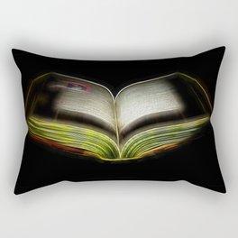 Fractal book Rectangular Pillow