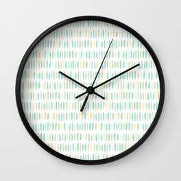 Turquoise Green Strokes Wall Clock