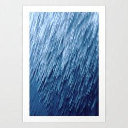 Dublin Bay Waves, Pooleg (Abstract Bokeh ICM Exposure) Art Print