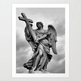 Italian Angel B&W Art Print