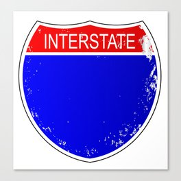 Interstate Sign Isolated Canvas Print