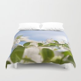 Flowering Cerasus cherry tree Duvet Cover