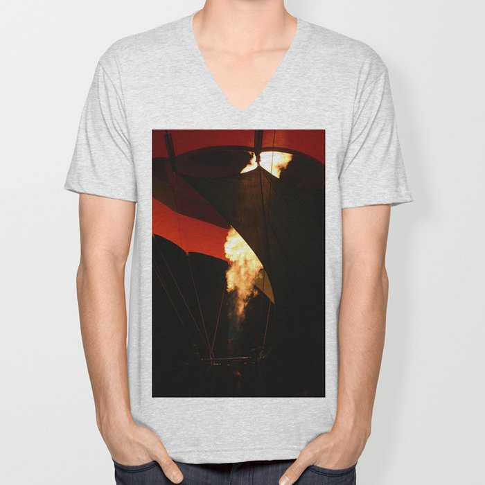 Hot Air Baloon Unisex V-Neck