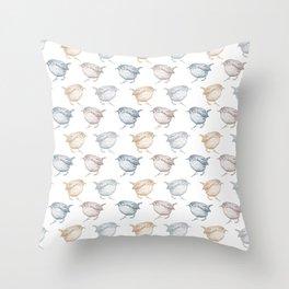 Little wrens Throw Pillow