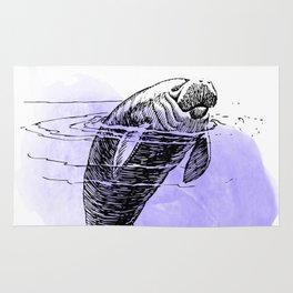 Purple Manatee Rug