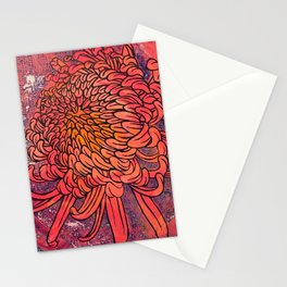 Chrysanthemum (Silk screen & fine liner) Stationery Cards