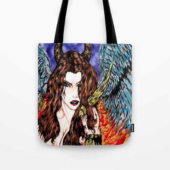 angel or demon in color Tote Bag