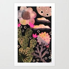Cactus-Scape Art Print