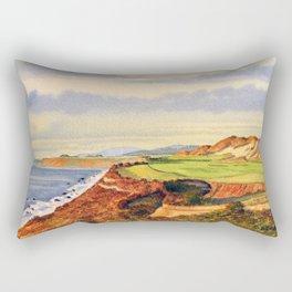 Pacific Dunes - On Bandon Dunes - Golf Course 13th Hole Rectangular Pillow