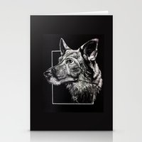 german shepherd Stationery Cards featuring German Shepherd by Ashley Anderson