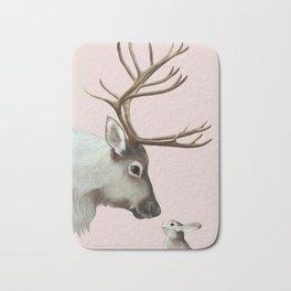 Reindeer and rabbit Bath Mat