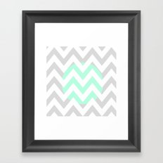 CIRCLE CHEVRON Framed Art Print