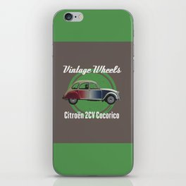 Vintage Wheels - Citroën 2CV Cocorico iPhone Skin