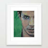street fighter Framed Art Prints featuring Fighter by Michael Creese