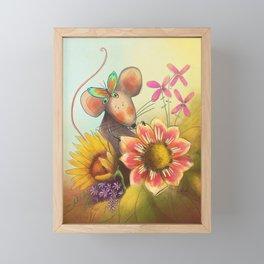 Spring Mouse Framed Mini Art Print